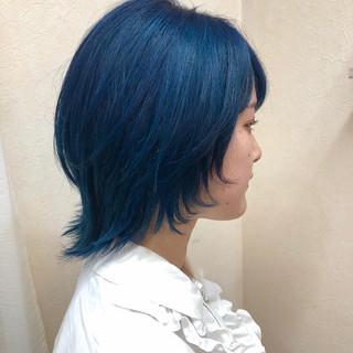ブリーチカラー マニパニ 派手髪 ショート ヘアスタイルや髪型の写真・画像