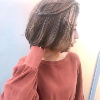 ハイライト 外国人風カラー ショートボブ アンニュイほつれヘア ヘアスタイルや髪型の写真・画像