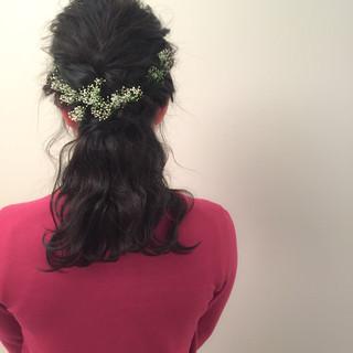 大人かわいい ヘアアレンジ 暗髪 ゆるふわ ヘアスタイルや髪型の写真・画像 ヘアスタイルや髪型の写真・画像