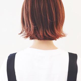 外国人風カラー 外ハネボブ ストリート ボブ ヘアスタイルや髪型の写真・画像