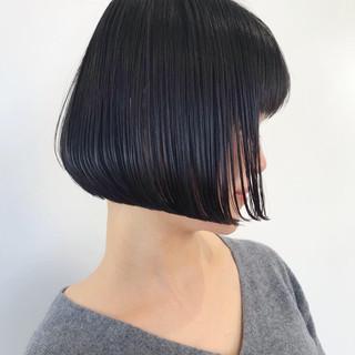 モテボブ 切りっぱなしボブ ワンレングス 簡単ヘアアレンジ ヘアスタイルや髪型の写真・画像