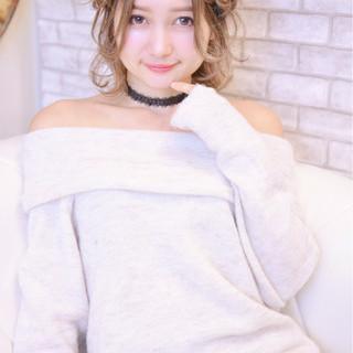 外国人風 簡単ヘアアレンジ ヘアアレンジ ガーリー ヘアスタイルや髪型の写真・画像