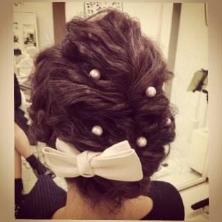パーティ 波ウェーブ コンサバ ヘアアレンジ ヘアスタイルや髪型の写真・画像