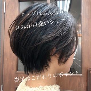 ナチュラル ショートヘア デート ミニボブ ヘアスタイルや髪型の写真・画像