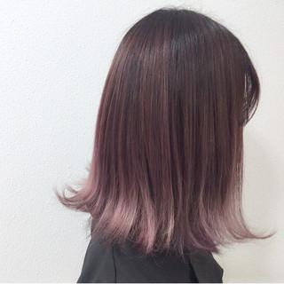 ピンク ガーリー ラベンダーピンク ブリーチ ヘアスタイルや髪型の写真・画像
