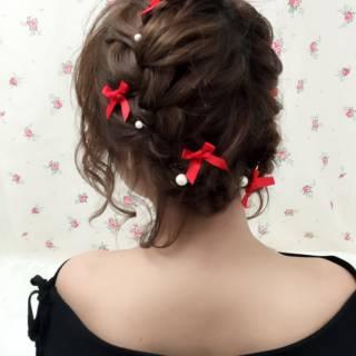 モテ髪 ボブ ヘアアレンジ マルサラ ヘアスタイルや髪型の写真・画像