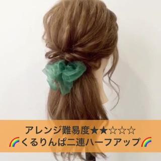 涼しげ 夏 ナチュラル ミディアム ヘアスタイルや髪型の写真・画像