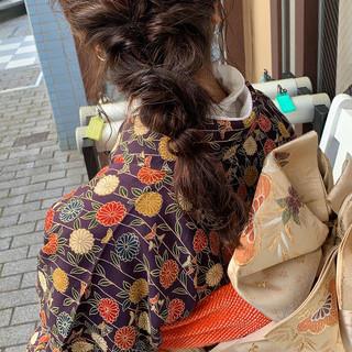 セルフアレンジ 簡単ヘアアレンジ ヘアアレンジ ヘアセット ヘアスタイルや髪型の写真・画像