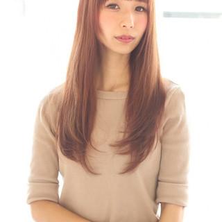 前髪あり 冬 ロング ナチュラル ヘアスタイルや髪型の写真・画像