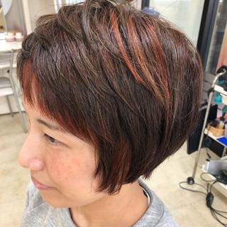 ナチュラル ハイライト 透明感カラー ショート ヘアスタイルや髪型の写真・画像