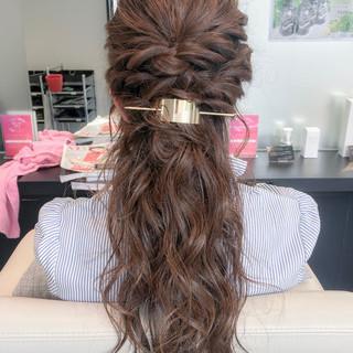 ルーズ フェミニン デート ヘアアレンジ ヘアスタイルや髪型の写真・画像