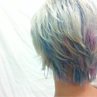 ショート カラフルカラー ダブルカラー ストリート ヘアスタイルや髪型の写真・画像 ヘアスタイルや髪型の写真・画像