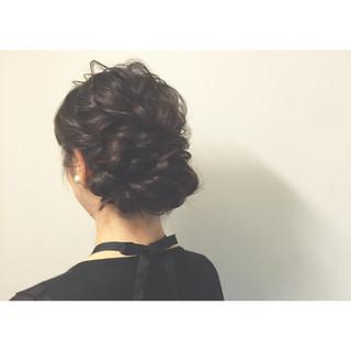 夏 お祭り 花火大会 編み込み ヘアスタイルや髪型の写真・画像