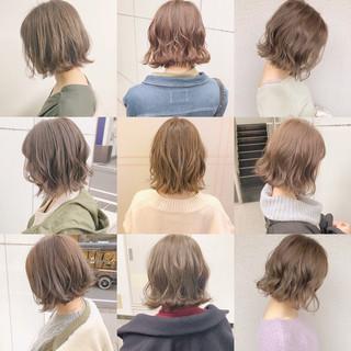 ナチュラル ボブ パーマ 簡単ヘアアレンジ ヘアスタイルや髪型の写真・画像 ヘアスタイルや髪型の写真・画像
