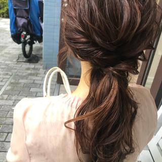 ロング ヘアセット ヘアアレンジ フェミニン ヘアスタイルや髪型の写真・画像 ヘアスタイルや髪型の写真・画像