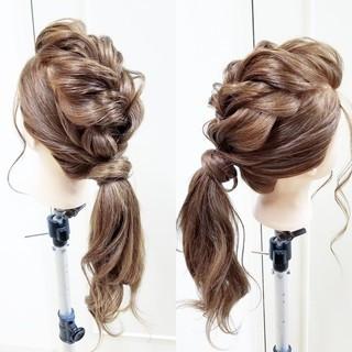 エレガント ヘアアレンジ ゆるふわ ロング ヘアスタイルや髪型の写真・画像