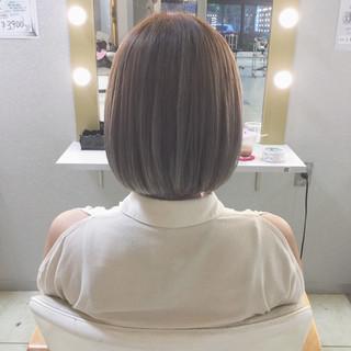ボブ ハイトーン ハイライト 外国人風 ヘアスタイルや髪型の写真・画像