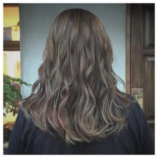 グラデーションカラー ストリート ブルージュ ハイライト ヘアスタイルや髪型の写真・画像