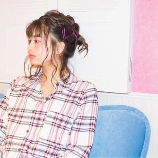 簡単ヘアアレンジ ミディアム 大人女子 ガーリー ヘアスタイルや髪型の写真・画像