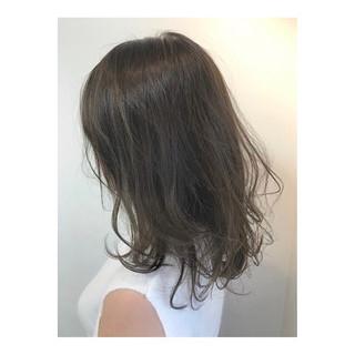 デート ナチュラル 黒髪 ミディアム ヘアスタイルや髪型の写真・画像