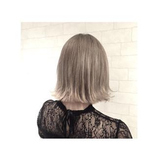 ボブ ハイライト アッシュ ストリート ヘアスタイルや髪型の写真・画像
