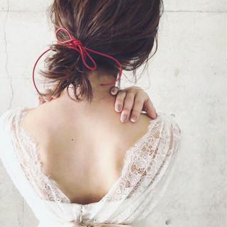 色気 結婚式 ゆるふわ 大人女子 ヘアスタイルや髪型の写真・画像
