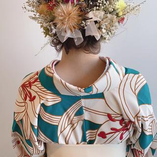 フェミニン 簡単ヘアアレンジ お呼ばれヘア 結婚式ヘアアレンジ ヘアスタイルや髪型の写真・画像