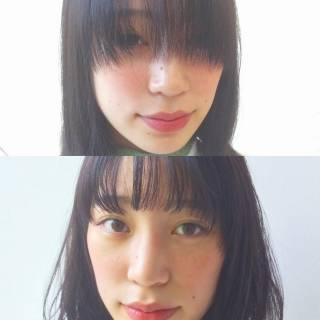 前髪あり ストリート ミディアム シースルーバング ヘアスタイルや髪型の写真・画像