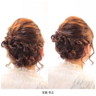 くるりんぱ かわいい 編み込み ナチュラル ヘアスタイルや髪型の写真・画像