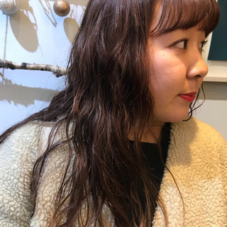 ピンク 波ウェーブ ロング ピンクブラウン ヘアスタイルや髪型の写真・画像