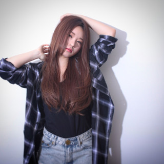 ストレート かっこいい 大人かわいい ロング ヘアスタイルや髪型の写真・画像