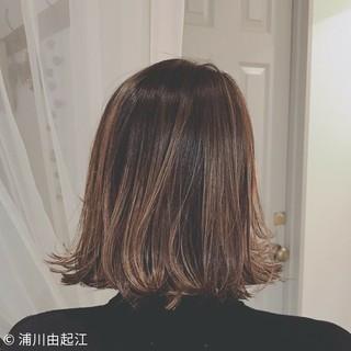 外国人風カラー デート ボブ ナチュラル ヘアスタイルや髪型の写真・画像
