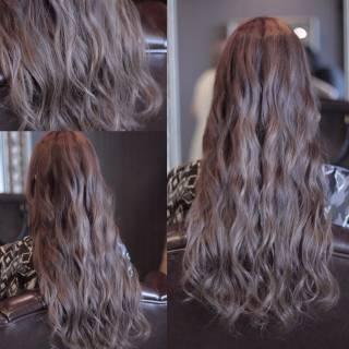 アッシュ ロング 外国人風 モード ヘアスタイルや髪型の写真・画像