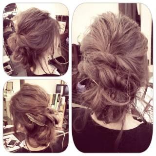 アップスタイル ナチュラル ルーズ ヘアアレンジ ヘアスタイルや髪型の写真・画像