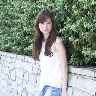 ピュア ロング コンサバ フェミニン ヘアスタイルや髪型の写真・画像