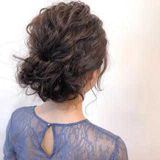 エレガント ヘアアレンジ デート ミディアム ヘアスタイルや髪型の写真・画像