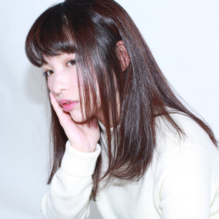 パープル ナチュラル 黒髪 イルミナカラー ヘアスタイルや髪型の写真・画像 ヘアスタイルや髪型の写真・画像