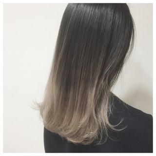 外国人風 ハイライト ストリート ミディアム ヘアスタイルや髪型の写真・画像