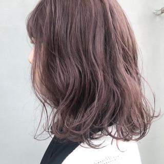 ラベンダー ピンク 透明感 ナチュラル ヘアスタイルや髪型の写真・画像