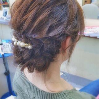 ヘアアレンジ 結婚式 ミディアム 成人式 ヘアスタイルや髪型の写真・画像 ヘアスタイルや髪型の写真・画像