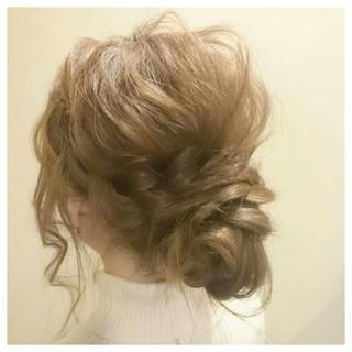 フェミニン ショート セミロング 簡単ヘアアレンジ ヘアスタイルや髪型の写真・画像