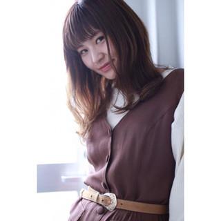 アッシュ 秋 パーマ ハイライト ヘアスタイルや髪型の写真・画像