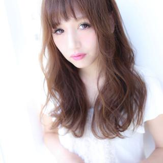 コテ巻き 前髪 ヘアカラー コンサバ ヘアスタイルや髪型の写真・画像