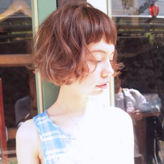 ショート 春 くせ毛風 ストリート ヘアスタイルや髪型の写真・画像