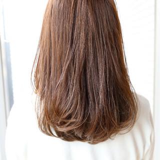 ワンカール ストレート 透明感 リラックス ヘアスタイルや髪型の写真・画像