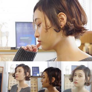 モテボブ フェミニン ボブ オフィス ヘアスタイルや髪型の写真・画像 ヘアスタイルや髪型の写真・画像
