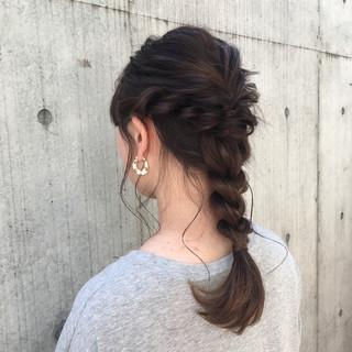 夏 ヘアアレンジ 涼しげ ナチュラル ヘアスタイルや髪型の写真・画像 ヘアスタイルや髪型の写真・画像