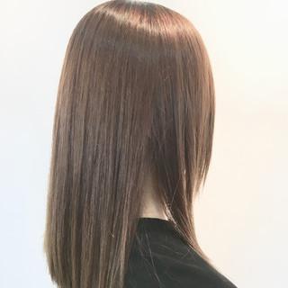 縮毛矯正 ストレート 簡単スタイリング ナチュラル ヘアスタイルや髪型の写真・画像