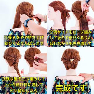 涼しげ ヘアアレンジ 簡単ヘアアレンジ エレガント ヘアスタイルや髪型の写真・画像