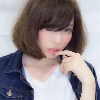 マルサラ 大人かわいい ストリート ボブ ヘアスタイルや髪型の写真・画像